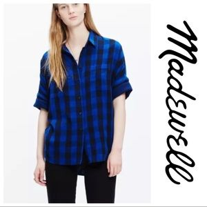 MADEWELL • Oversized PLAID BUTTON DOWN SHIRT